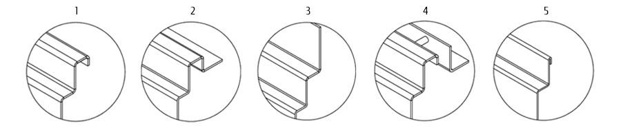 отделка кромки канала ATT Inox Drain