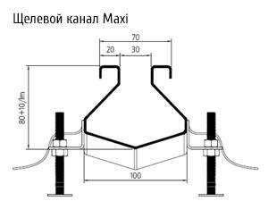 щелевой канал Maxi ATT Inox Drain
